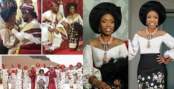 Lala Akindoju traditional wedding photos