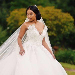 Minnie Dlamini wedding dress