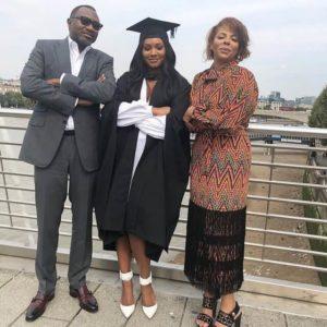 Temi Otedola graduates from UK University