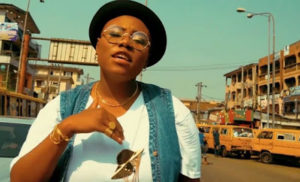 Teni pictured on the street