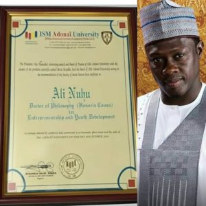 Kannywood Star Ali Nuhu Bags Honorary Doctorate Degree (Photos)