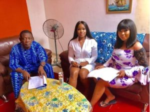 CeeC Makes Nollywood Debut, Pictured On Set With Nkem Owoh (Photos)