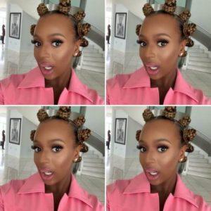 DJ Cuppy Bantu knots hairstyle