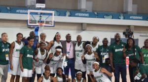 FIBA president Horacio Muratore applauds D'Tigress