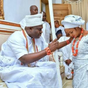 Ooni of Ife and new olori Naomi Oluwaseyi