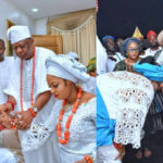 Photos From The Wedding Of Ooni Of Ife & His New Olori Naomi Oluwaseyi