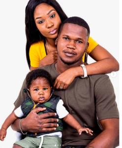 Oyindamola Omole, husband and son