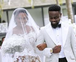 Sarkodie and his wife Tracy wedding picture