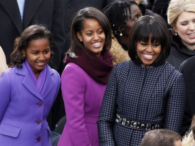 Michelle Obama and daughters