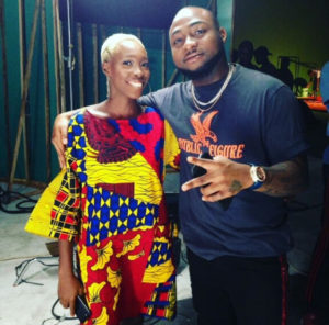 Nigerian model with tribal marks meets Davido
