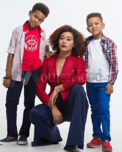 Adunni Ade and her sons