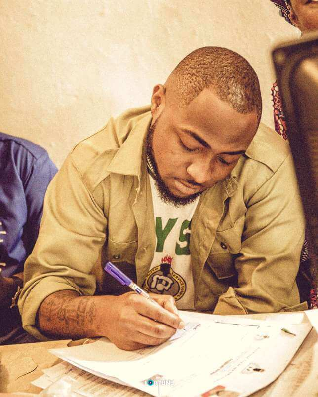 Davido Gets Dismissed From NYSC Programme