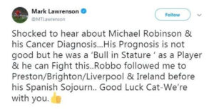 Michael Robinson cancer 1
