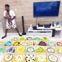 Reekado Banks Gets 25 Cakes From His Brother To Celebrate 25th Birthday