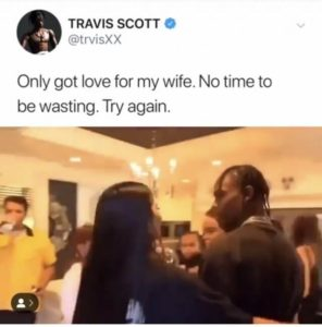 Travis Scott Denies Cheating On Kylie Jenner photo
