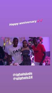 Odion Ighalo and wife celebrates 9th wedding anniversary