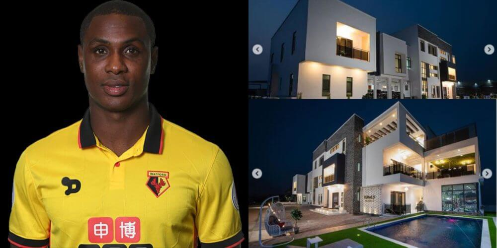 Nigerian Striker Odion Ighalo Shows Off His Multi-Million naira Mansion