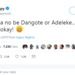 Nigerians React To DJ Cuppy's Tweet 'My Papa No Be Dangote'