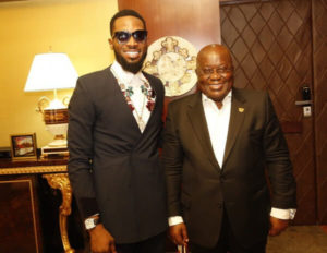 Singer D'Banj Meets With Ghanaian President Nana Akufo-Addo (Photos)