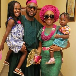 Dakore Egbuson Akande and her husband