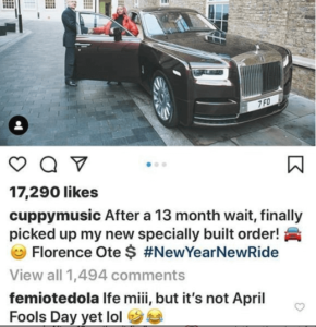 Femi otedola comments