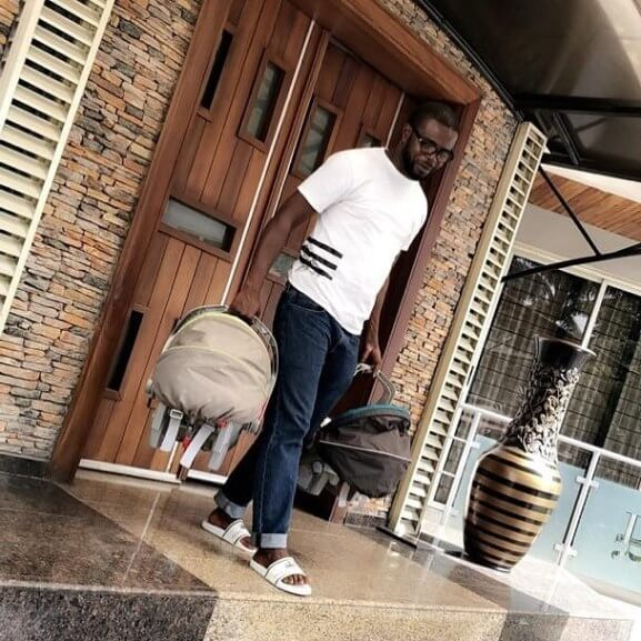JJC Skillz Gushes Over Funke Akindele As He Steps Out With Their Kids