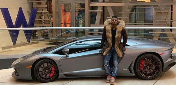 Football Star, Obafemi Martins Shows Off His New Ferrari Spider