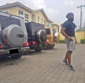 Timaya Shows Off His Collection Of Mercedes G-Wagon