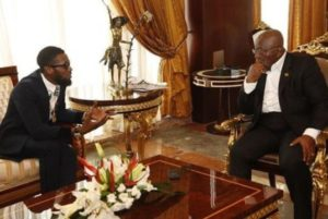 D'Banj and Ghanaian president Nana Akufo Addo