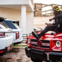 Dancehall Singer, Shatta Wale Shows Off His Expensive Cars - See Photos