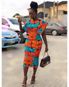Linda Osifo ankara style