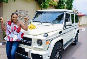 Blessing Nkiruka new car as birthday gift