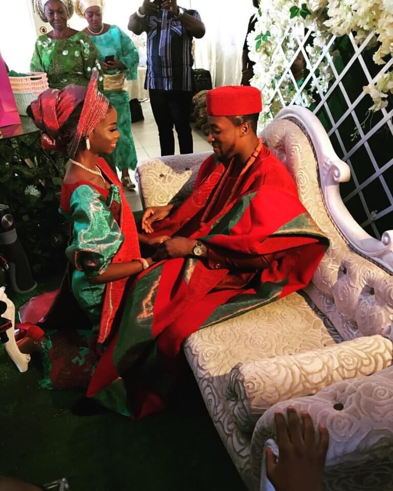 Akah Nnani and Claire Ideratraditional wedding picture