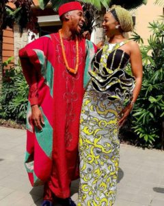 Akah Nnani and claire traditional