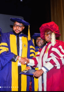 E-Money bagged doctorate degree in Business Management