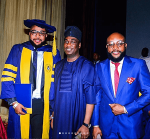 E-Money pictured with Dr Obafemi Hamzat