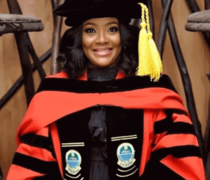 Helen Paul bagged a doctorate degree