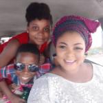 Actress Ireti Osayemi and her lovely children