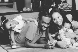 Iyke Okechukwu and his wife, Kids