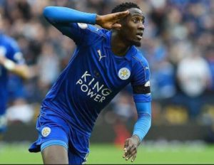 Wilfred Ndidi pictured on pitch