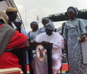 Babajide Sanwo-Olu Has Been Sworn-in As Governor Of Lagos State - See Photos