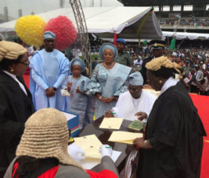 Babajide sanwo-olu sworn in ceremony