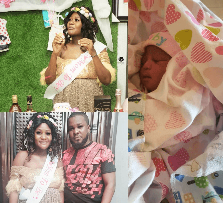 Biola Adekunle welcomes first child after 5 years of marriage
