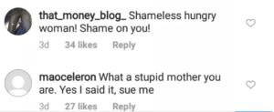 Comments on Regina Daniels mother