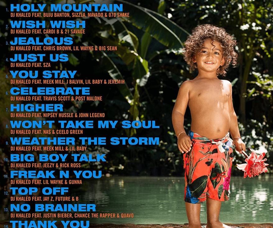 "DJ Khaled ""Father of Asahd"" album tracklist"