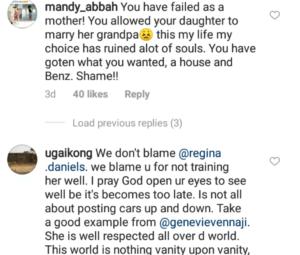 Regina Daniels mother blasted on instagram
