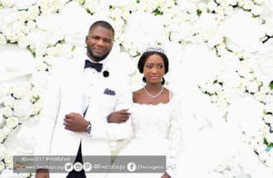 Sarah Omakwu daughter, Favour and her husband wedding picture