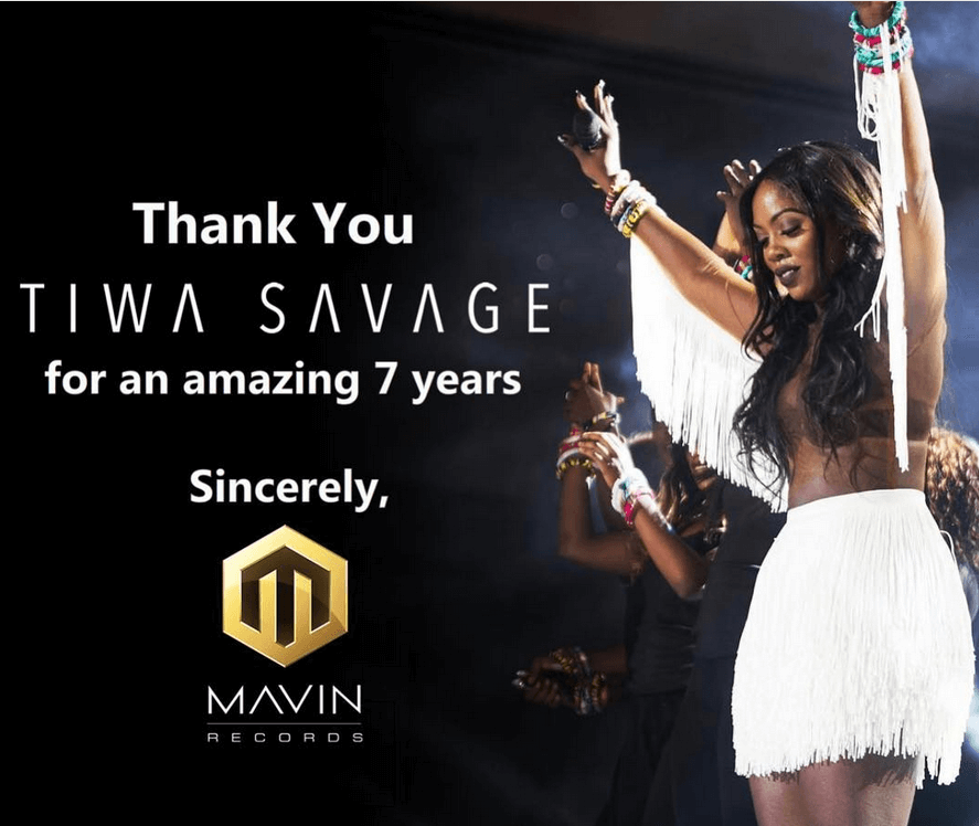 Tiwa Savage Part Ways With Mavin Records After 7 Years