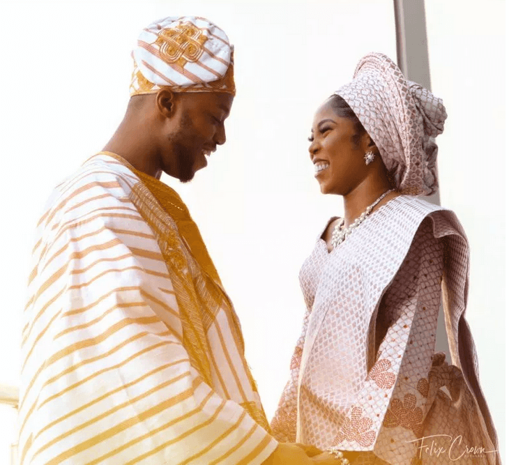 Tiwa Savage's look alike traditional wedding photo