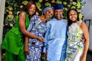 Yemi Osinbajo, Wife & Daughters Looks So Adorable In New Photo